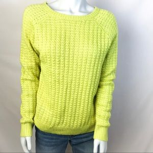 FOREVER 21 Yellow Crewneck Knitted Sweater